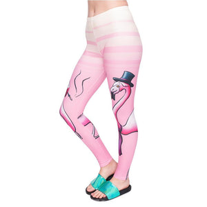 High Waist Woman Pants - Smoking Flamingos,Leggings | Women fashio shop|  Flamingolandia.online
