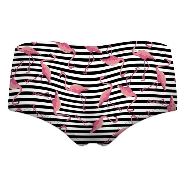 Hipster brief panties Black & White Flamingo | Flamingolandia