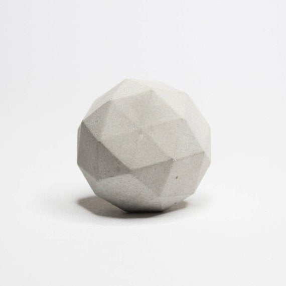 Concrete cabinet knob round diamond shape |  A lot colors to choose | Flamingolandia