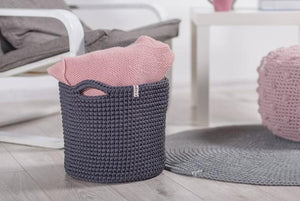 Rope crotched Scandinavian storage basket | Flamingolandia