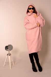 Wool oversized coat cardigan pink | Danellys u10e6 | Flamingolandia