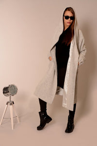 Wool oversized coat cardigan Light grey | Danellys ღ,Coat- Flamingolandia.online