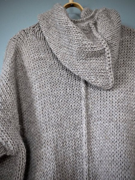 """Shelter"" – Chunky Alpaca Wool Cardigan With Hood 