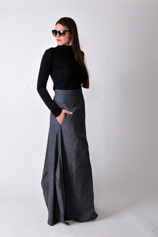 Asymetric loose design denim skirt | Flow | Flamingolandia