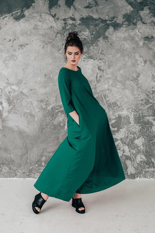 Long green dress Boho Summer | InModum,dress | Women fashio shop|  Flamingolandia.online