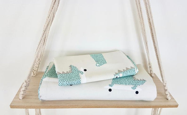 Bed linen with silver ions - Crocodile friends | Flamingolandia