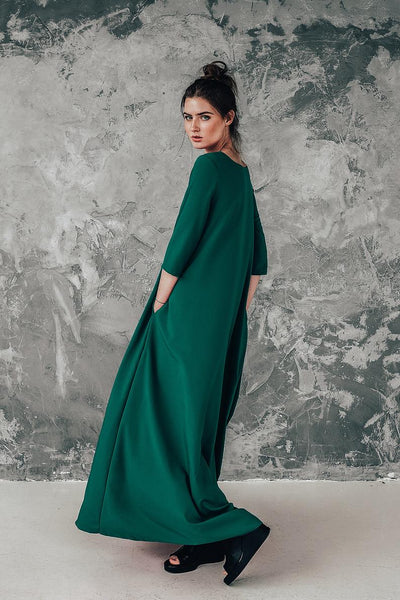 Long green dress Boho Summer | InModum | Flamingolandia