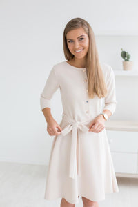 Jasmine smell dress - light beige color - Flamingolandia.online