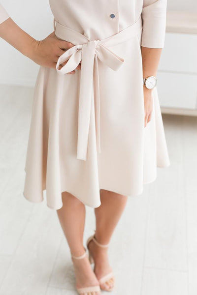Jasmine smell dress - light beige color,dress | Women fashio shop|  Flamingolandia.online
