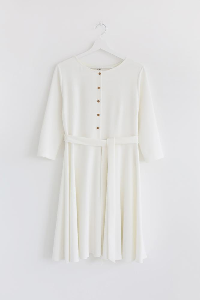 Jasmine smell dress - Warm white color,dress- Flamingolandia.online