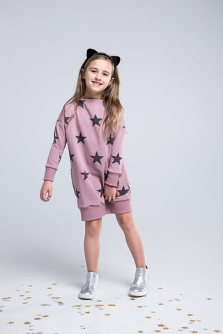 Casual girl pink dress - The Stars! | Flamingolandia
