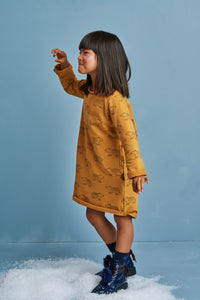 Casual girl mustard dress- Bears!,girl dress | Women fashio shop|  Flamingolandia.online