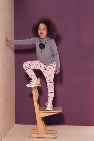 Kids pink cotton pants with pockets - Badgers!