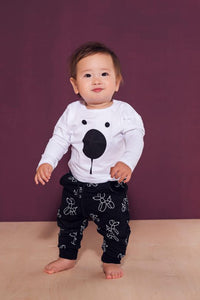 Kids black cotton pants with pockets - Balloon dogs!,kids pants | Women fashio shop|  Flamingolandia.online
