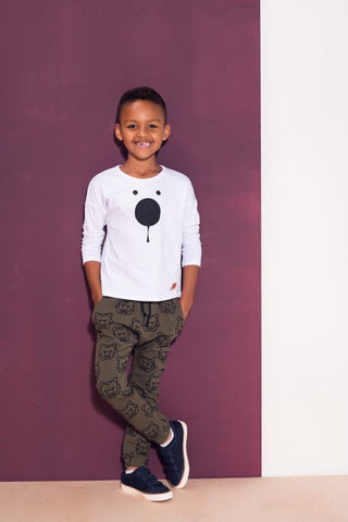 Kids khaki cotton pants with pockets - Bears!,kids pants | Women fashio shop|  Flamingolandia.online