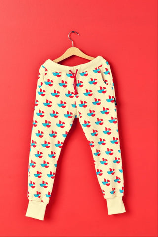 Kids cotton pants with pockets - Fishes! | Flamingolandia