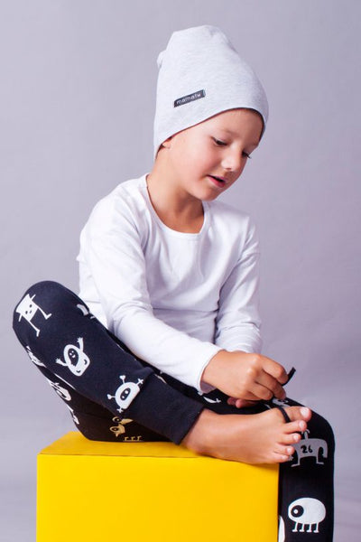Kids black cotton pants with pockets - Monsters!,kids pants | Women fashio shop|  Flamingolandia.online