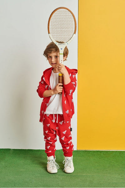 Kids cotton pants with pockets - Tennis! | Flamingolandia