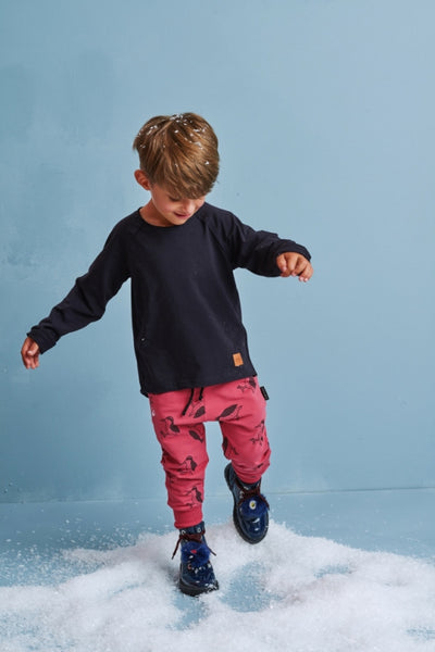 Kids red cotton pants with pockets - Woodpecker! | Flamingolandia