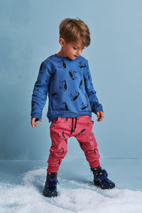 Kids red cotton pants with pockets - Woodpecker!,kids pants | Women fashio shop|  Flamingolandia.online