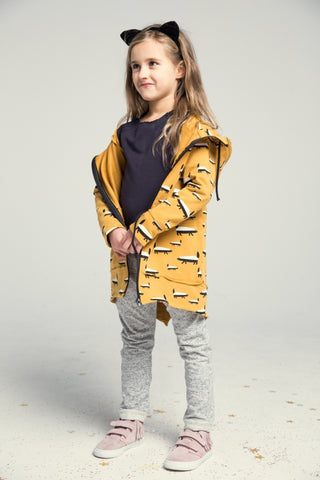 Casual kids long hoodie - BADGER! | Flamingolandia