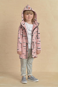 Casual kids pink long hoodie - BADGER!,kids hoodie | Women fashio shop|  Flamingolandia.online