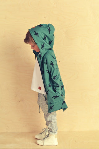 Casual kids long green hoodie - Orca! | Flamingolandia