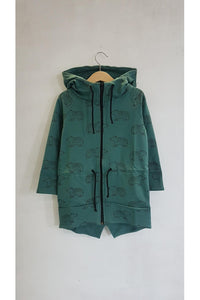 Casual kids long green hoodie - BEARS! | Flamingolandia