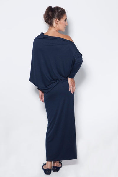 Deep blue evening maxi dress,dress | Women fashio shop|  Flamingolandia.online