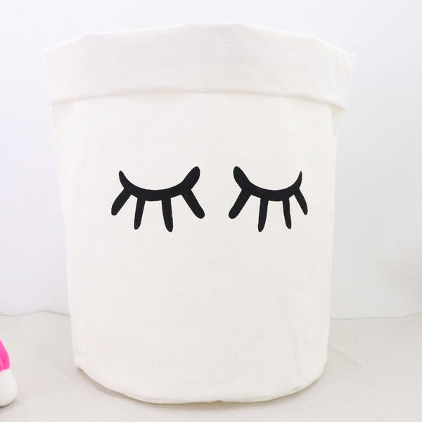Linen cute home organizers - Black & White - Flamingolandia.online