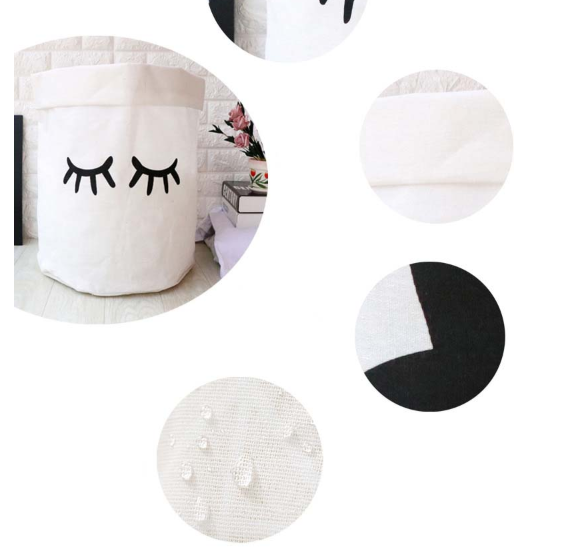 Linen cute home organizers - Black & White,basket | Women fashio shop|  Flamingolandia.online
