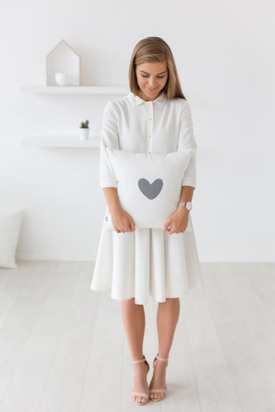 Morning smile dress- warm white color,dress- Flamingolandia.online