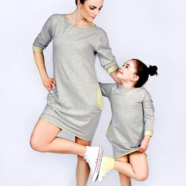 Mother & Daughter matching dresses! Small yellow beauty! - Flamingolandia.online