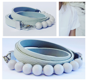 "Natural leather bracelet -   ""CM secret. Lightly"" Coco Maroco,Bracelet- Flamingolandia.online"
