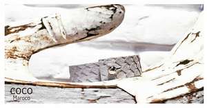 "Natural leather bracelet -    ""CM secret. Grey "" Coco Maroco,Bracelet- Flamingolandia.online"