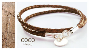 "Natural leather bracelet - ""CM secret. Minimal"" Coco Maroco,Bracelet 