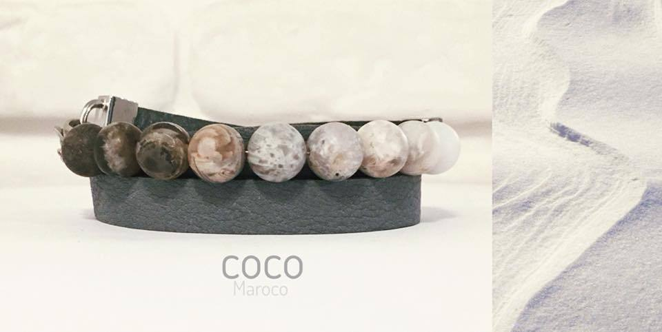 "Natural leather bracelet -    ""CM secret. Ocean sand"" Coco Maroco - Flamingolandia.online"