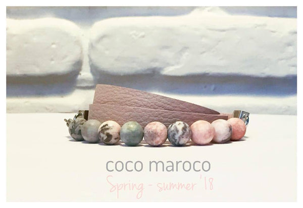 "Natural leather bracelet -    ""CM secret. Privilege"" Coco Maroco 
