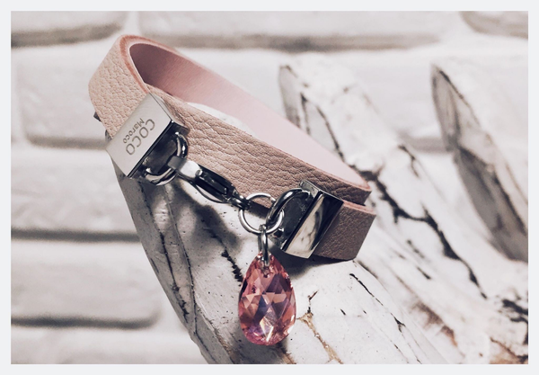 "Natural leather bracelet -    ""CM secret. Some Pink"" Coco Maroco 
