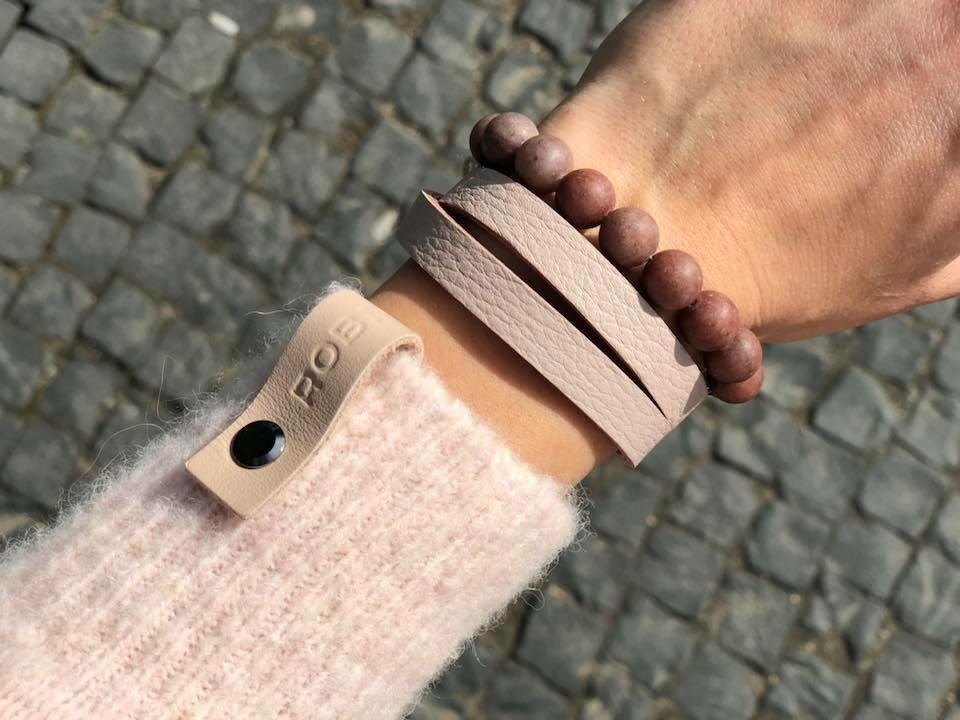 "Natural leather bracelet -    ""CM secret. Sunset"" Coco Maroco,Bracelet 