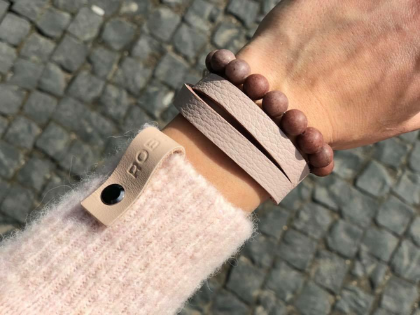 "Natural leather bracelet -    ""CM secret. Sunset"" Coco Maroco 