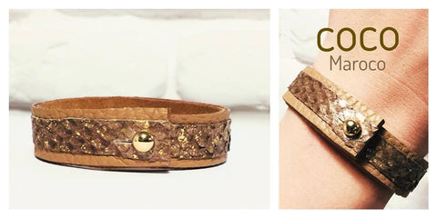 "Natural leather bracelet -    ""CM secret.Gold Dust"" Coco Maroco,Bracelet- Flamingolandia.online"