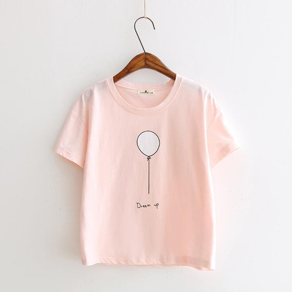 Pink T-Shirt - Dream up!,T-shirt- Flamingolandia.online