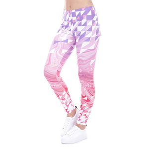 High waist Leggings - Simple geometry pinkLeggings - Flamingolandia.online