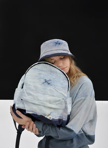 Canvas backpack - To the sky | Flamingolandia