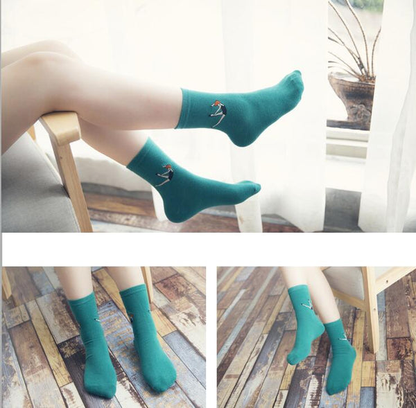 High-quality women white ancle socks - Rainy,Socks | Women fashio shop|  Flamingolandia.online