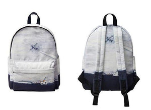 Canvas backpack - To the sky,backpack | Women fashio shop|  Flamingolandia.online