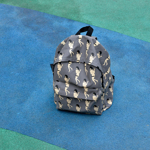 Canvas printed backpack - Naked ladybackpack - Flamingolandia.online