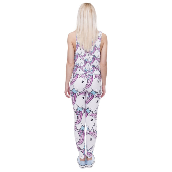 High quality  women leggings  - Unicorn attack | Flamingolandia