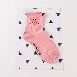 Pink panter cotton socks | Flamingolandia